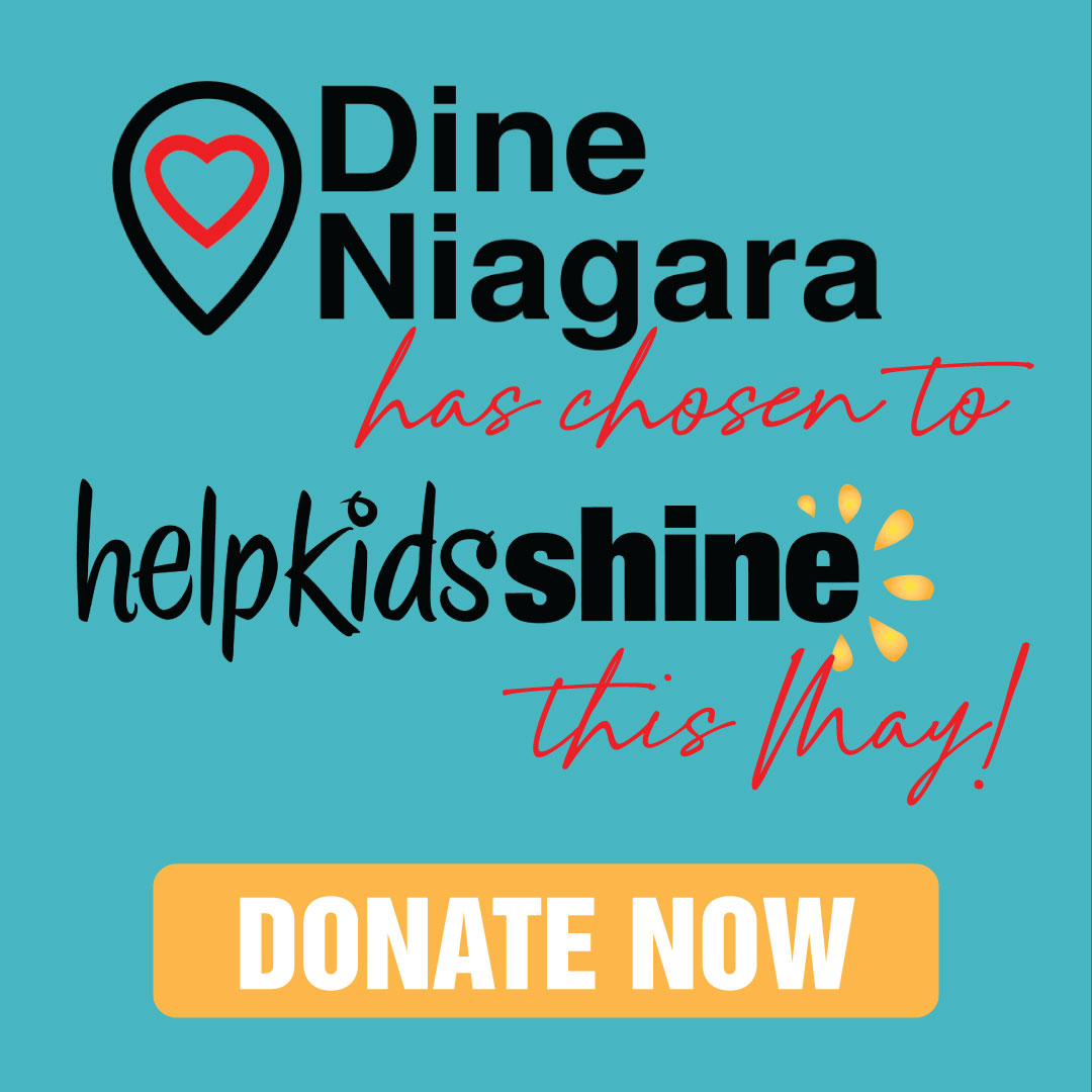 Dine Niagara supports charitable organizations in Niagara every month.